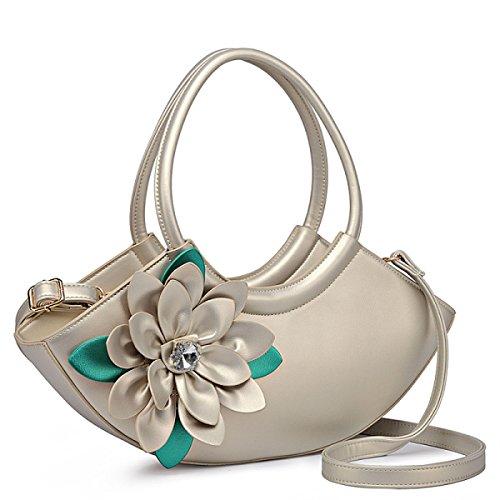 QPALZM QPALZM 2017 Frau Handtasche Nationalen Blumenbeutel Diamantbohrgerät Schulter Messenger Mode Handtaschen Silver