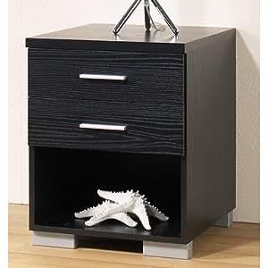 Puls 702056161 Table de Chevet Noir