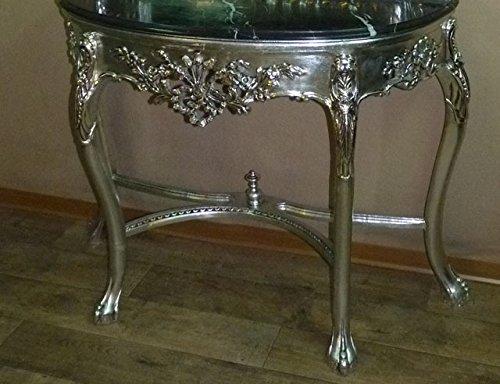 Art.TK85 Consolle con specchio in stile Luigi Filippo a foglia argento