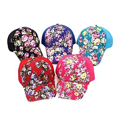 Kingko® Embroidery Baseball Hats Cap Boys Girls Adjustable Hip Hop Flat Hat