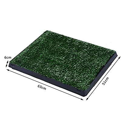 PawHut Indoor Pet Dog Toilet Mat Potty Tray Training Grass Restroom with Tray and Loo Pad 2