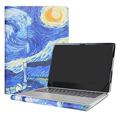 Alapmk Diseñado Especialmente La Funda Protectora de Cuero de PU Para 13.3' Lenovo IdeaPad 720S 13 720S-13IKB & IdeaPad 320S 13 320S-13IKB & IdeaPad 710S 13 710S-13IKB 710S-13ISK Ordenador portátil,Starry Night