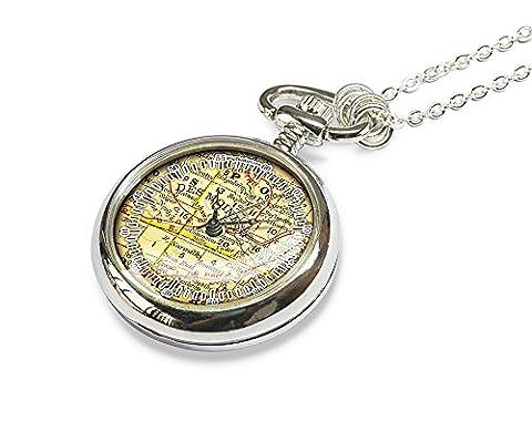 1874 Des Moines map pocket watch - map jewellery necklace - best gift ideas - girlfriend