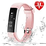 LETSCOM Fitness Tracker HR, Fitness Watch With Heart Rate Monitor, Slim Pedometer Watch Sleep Monitor, Step Counter, Calorie Counter For Kids Women And Men - B07F8Q7V7V