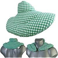 Nackenhörnchen mit Stehkragen grün-weiß | Kirschkernkissen | Nackenkissen Wärmekissen - Ein sehr wohliger Nackenwärmer preisvergleich bei billige-tabletten.eu