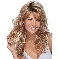 SHKY Las pelucas sintéticas rizadas rizadas de moda del frente del cordón resisten el pelo resistente