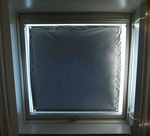 Exsun Sonnenschutz für Velux & Roto Dachfenster | Ohne Bohren mit Saugnäpfe | KraftHaftSauger Made in Germany | Hitzeschutz | Rollo Braas | Fakro | Verdunklungsrollo. Super einfach + EXTRA Sauger!