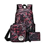HCFKJ Schultasche, Baby Jungen Mädchen Kinder Dinosaurier Muster Tiere Rucksack Kleinkind Schultasche (Hot Pink)