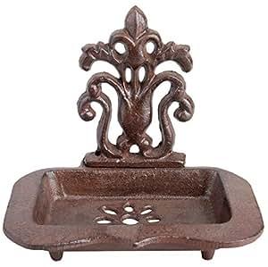 Esschert Design Seifenschale, Seifenhalter aus Gusseisen, ca. 16 cm x 12 cm x 14 cm