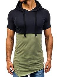 BOLF - T-shirt – Manches courtes – À capuche – Homme
