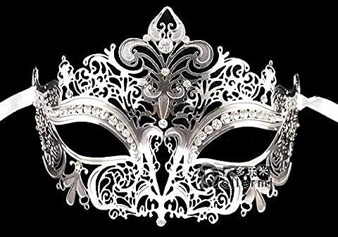 Halloween Party Weibliche Hälfte Gesichtsmaske Diamond Princess Metall Mode Augenmaske Des Außenhandels, Silbrig