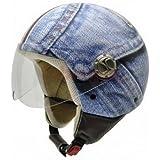 NZI 3D Vintage II Casco de Moto, Fotografía Detalle de Pantalones Vaqueros, S