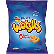 Walkers Wotsits Really Cheesy Snacks, 16.5 g, Pack of 6