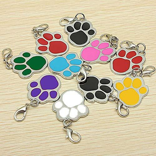 Hemore Hundemarke mit Fußabdrücken, Haustier, Haustier-Accessoire, hübscher Schmuck -
