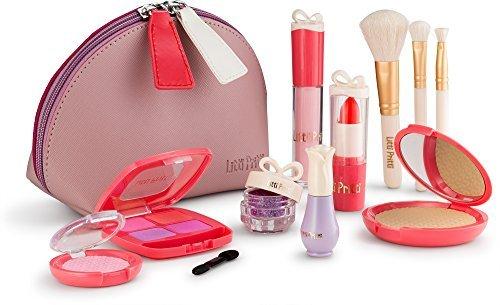 Litti Pritti Vorgeben Make-Up Für Mädchen Set - 11 Stück Kosmetische Play Schminkset - Pu-Leder-Etui (Für Kinder Make-up-kit)