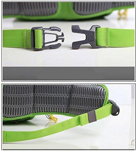 zaino trekking Outdoor Backpack Sport alpinismo sacchetto di Bin tracolla escursionismo sacchetto esterno Attrezzature Uomini E Donne Borsa a tracolla Zaini da escursionismo ( Colore : Viola ) Verde
