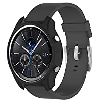 Tuff-Luv Silicone Wrist Watch Strap Band for Samsung Gear S3 Classic Smartwatch - Black