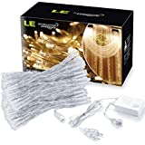 LE® 3m * 3m 304 LED tende luci, tenda della finestra Icicle Luci, 8 modalità, collegabile design, bianco caldo, 3000K, Finestra luci, luce leggiadramente della stringa di Natale / Wedding / Party Decorazioni