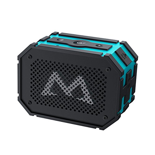 Bluetooth Lautsprecher, Mpow Tragbarer Lautsprecher Bluetooth Drahtloser Lautsprecher Outdoor Wasserdicht 5W Stero Boombox Speaker mit 1000mAh Power Bank Funktion Starker Bass für iPhone 7 7Plus 6S 6S Plus 6 iPod Samsung Huawei HTC und Andere Smartphones (Blau) Test