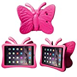 CaseGuru Kids Butterfly Case for iPad Mini / Mini 2 / Mini 3 / Retina, Multifunctional Kids Shock Proof Case - Hot Pink