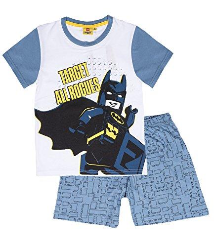 LEGO-Batman-Ragazzi-Pigiama-maniche-corte-bianco