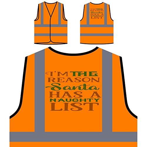 arum der Weihnachtsmann Personalisierte High Visibility Orange Sicherheitsjacke Weste t985vo ()