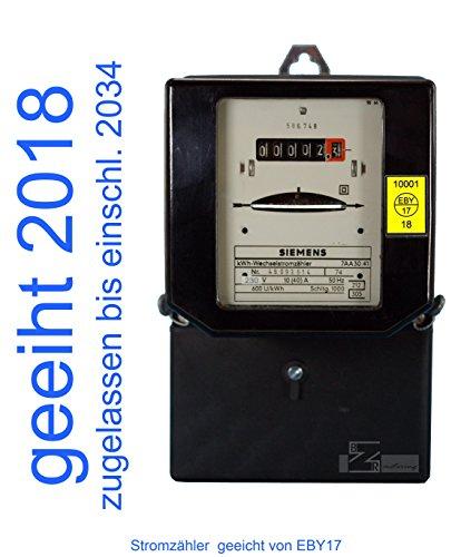 Wechselstromzähler 10(40)A geeicht für Verrechnungszwecke zugelassen (max. 9,2kW) von EB17