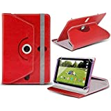 Smm 360° Rotate Dual Stand RED Tablet Flip Cover For Micromax Canvas Tab P701 Plus, Tablet Flip Case For Micromax Canvas Tab P701 Plus, Tablet Cover For Micromax Canvas Tab P701 Plus