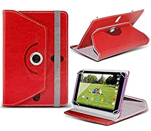 Smm 360° Rotate Dual Stand RED Tablet Flip Cover for Swipe All In One Tablet , Tablet Flip Case for Swipe All In One Tablet , Tablet Cover for Swipe All In One Tablet