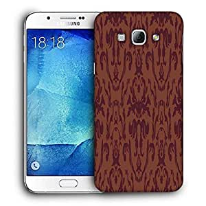 Snoogg Red Pattern Printed Protective Phone Back Case Cover For Samsung Galaxy Note 5