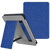 MoKo Case Fits All-New Kindle (10th Generation - 2019 Release), Slim PU Leather Stand Smart Cover Shell with Hand Strap, Will Not Fit Kindle Paperwhite 10th Generation 2018 - Denim Indigo
