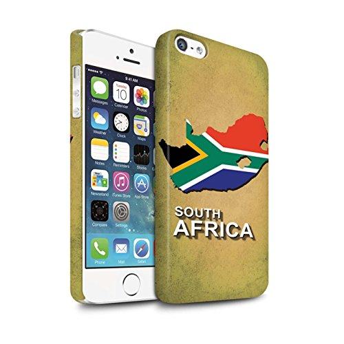 STUFF4 Matte Snap-On Hülle / Case für Apple iPhone 7 Plus / Deutschland/Deutsch Muster / Flagge Land Kollektion Südafrika/Afrikanische