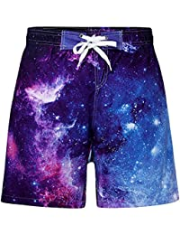 c3455ceb39d28 Funnycokid Boys Swim Shorts Printed Funny Quick Dry Swimwear Kids Board  Trunks 5-16 Years