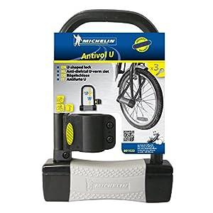 Ertedis 801023 Fechadura de bicicleta - Fechaduras de bicicleta (U-Lock, Preto, Cinza, PVC)