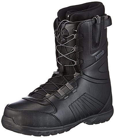 Nitro snowboards boots de snowboard pour homme 15 tLS nomad Noir noir 29.5