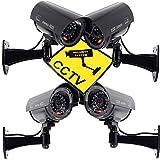 4PC Dummy Überwachungskamera Für Außen