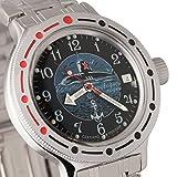 Vostok Amphibian 420831Ruso Militar reloj 2416b 200m auto azul marino Submarino