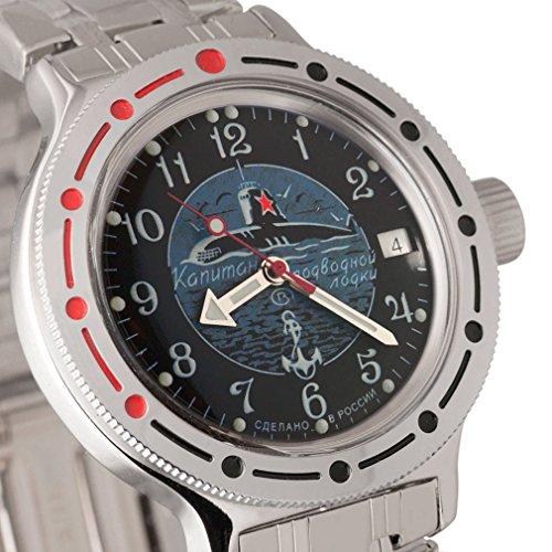 Vostok Amphibian 420831- Reloj ruso de buceo 2416B, 200 metros, automático