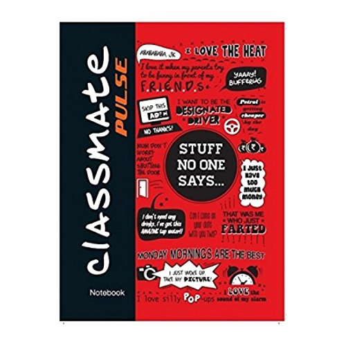 Classmate Pulse Single Line 5-Subject Notebook - 240mm x 180mm, 60GSM, 250 Pages