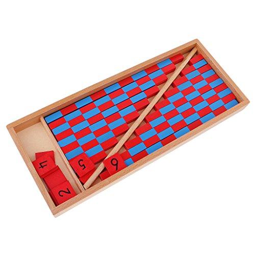 MagiDeal Jeu Educatif Enfants Montessori Mathématiques Bâtons de Chiffres Jouet en Bois Famille Ecole bc29eb85-4007-4fc9-9529-0bb7e7a1e0c8