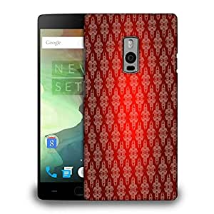Snoogg Dark Red Pattern Printed Protective Phone Back Case Cover Fpr OnePlus One / 1+1