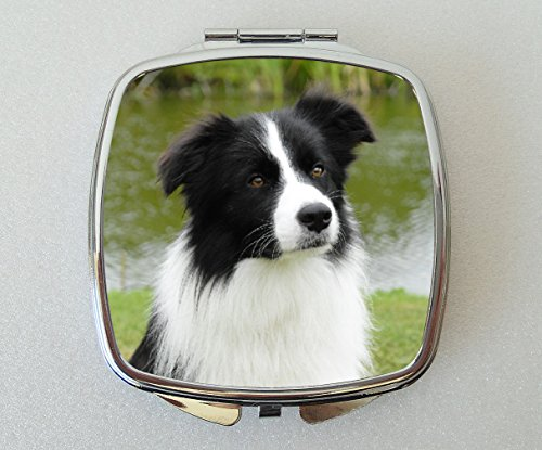 Border Collie Dog Compact Mirror Fun Novelty Gift by Starprint Sublimation
