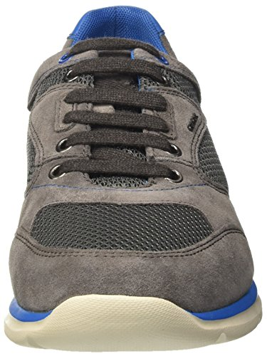 Geox U Damian A, Baskets Basses Homme Gris (Anthracite/Azurec9A4D)