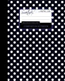 Blue Black Polka Dot Composition Notebook: College Ruled Writing Journals for School / Teacher / Office / Student [ Perfect Bound * Large * Blue Black and White Polka Dots ]