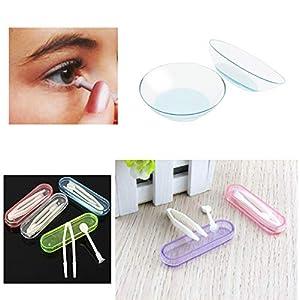 Kontaktlinsen-Einsatz aus hygenischem weichem Spitzen-Applikator, Pinzette und Aufbewahrungsbox, inkl. Smiley-Magnet, 2 Packungen mit 3 Stück