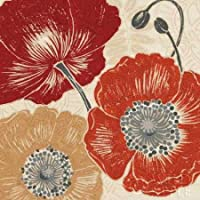 Feeling at home, Stampa artistica x cornice - quadro, fine art print, Un Poppys Touch II cm 91x91