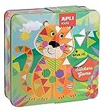 APLI Kids - Caja metálica con juego de gomets Tigre