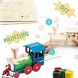 ROBUD Kits de carpintería 3D Puzzle de Pintura Modelo de artesanía de Madera Locomotora Juguetes para niños 5 6 7 8 9 años de Edad en adelante (Locomotive)