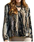 holidaysuitcase - Camisas - Animal Print - para mujer Marrón marrón 48/50