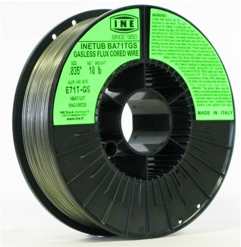INETUB BA71TGS .035-Inch on 10-Pound Spool Carbon Steel Gasless Flux Cored Welding Wire by INE USA - Cored Carbon